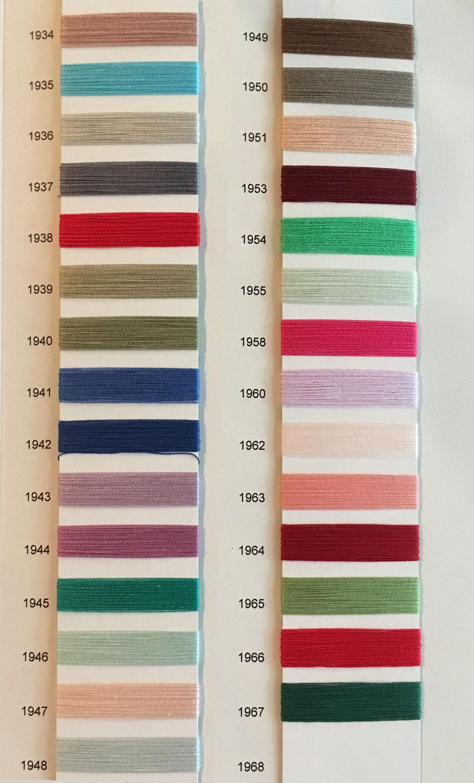 Baumwolle 30/2, Farbkarte 1934-1968